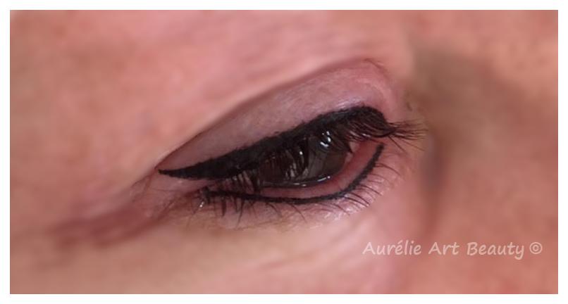 eye liner inférieur et supérieur Maquillage permanent yeux