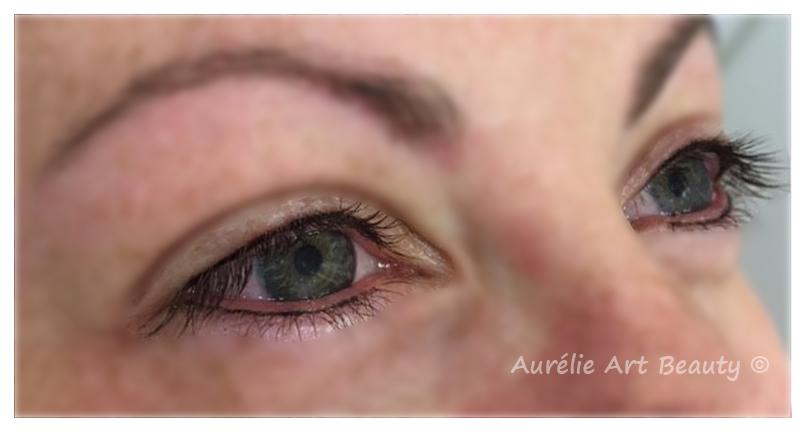 ras de cils inférieur et supérieur Maquillage permanent yeux